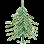 Dominique Jade Green Christmas Tree Pin Brooch