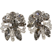 Eisenberg Gray & Clear Rhinestone Earrings