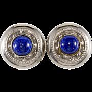 Ellen Designs Blue Lapis & Silver Earrings