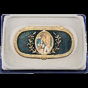 Estee Lauder Cameo Enameled Solid Perfume Compact w/ Box