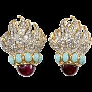 Elizabeth Taylor Eternal Flame Earrings