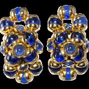 Monette of Paris Cobalt Blue Bead Earrings