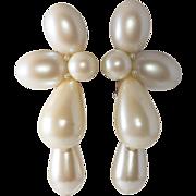 Wendy Gell Faux Pearl Dangle Earrings