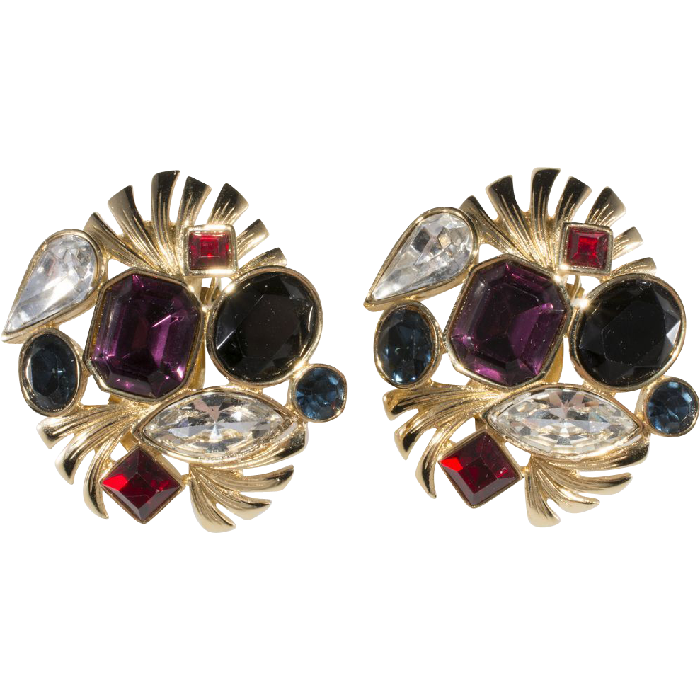 Givenchy Multi-color Rhinestone Earrings