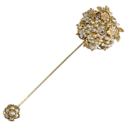 Authentic Stanley Hagler Pearl Stickpin Brooch