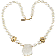SALE Miriam Haskell Baroque Pearl Necklace