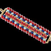 Miriam Haskell Egyptian Revival Bracelet 1970s