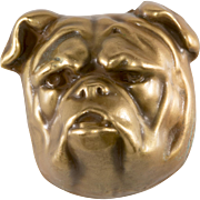 Joseff of Hollywood Bulldog Brooch Pin