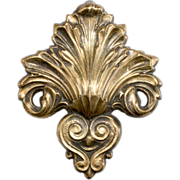 Joseff of Hollywood 1930s Fleur-de-lis Dress Clip Brooch
