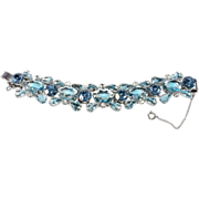Juliana D&E Bi-Color Blue & Clear Rhinestone Bracelet