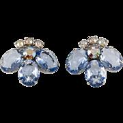 Juliana DeLizza Elster Light Blue LARGE Earrings