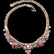 Juliana D&E Pink Rhinestone Necklace