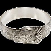 Marsh Art Deco 1930s Sterling Silver Buckle Bracelet