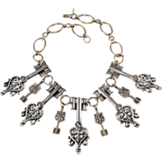 Monet Jewelers 1940 Dangling Keys Necklace