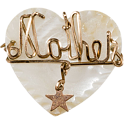 Mother Sweetheart Pin Heart w/ Star