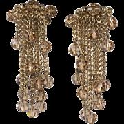 Napier Crystal Dangle Bead Earrings
