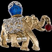 Napier 1960s Lucky Elephant Brooch Pin