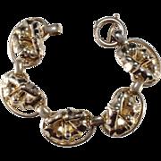 SALE Napier Gold-Tone Hibiscus Bracelet