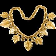 Napier Golden Leaf Necklace