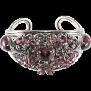 Napier 1950s Purple & Silver Cuff Bracelet