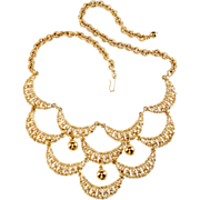 Napier Gold Plated Scalloped Necklace
