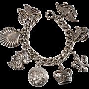Napier Silver Plate Charm Bracelet