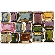 Neiman Marcus Geometric Brooch Pin