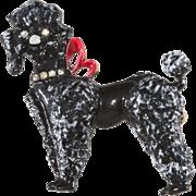 Original by Robert Black Poodle Dog Brooch Pin