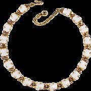 Trifari Fruit Salad Pears Necklace with Rhinestones Vintage