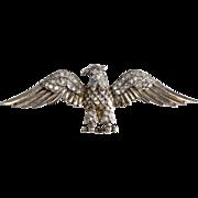 Trifari Sterling 1940s Patriotic Eagle Brooch Pin