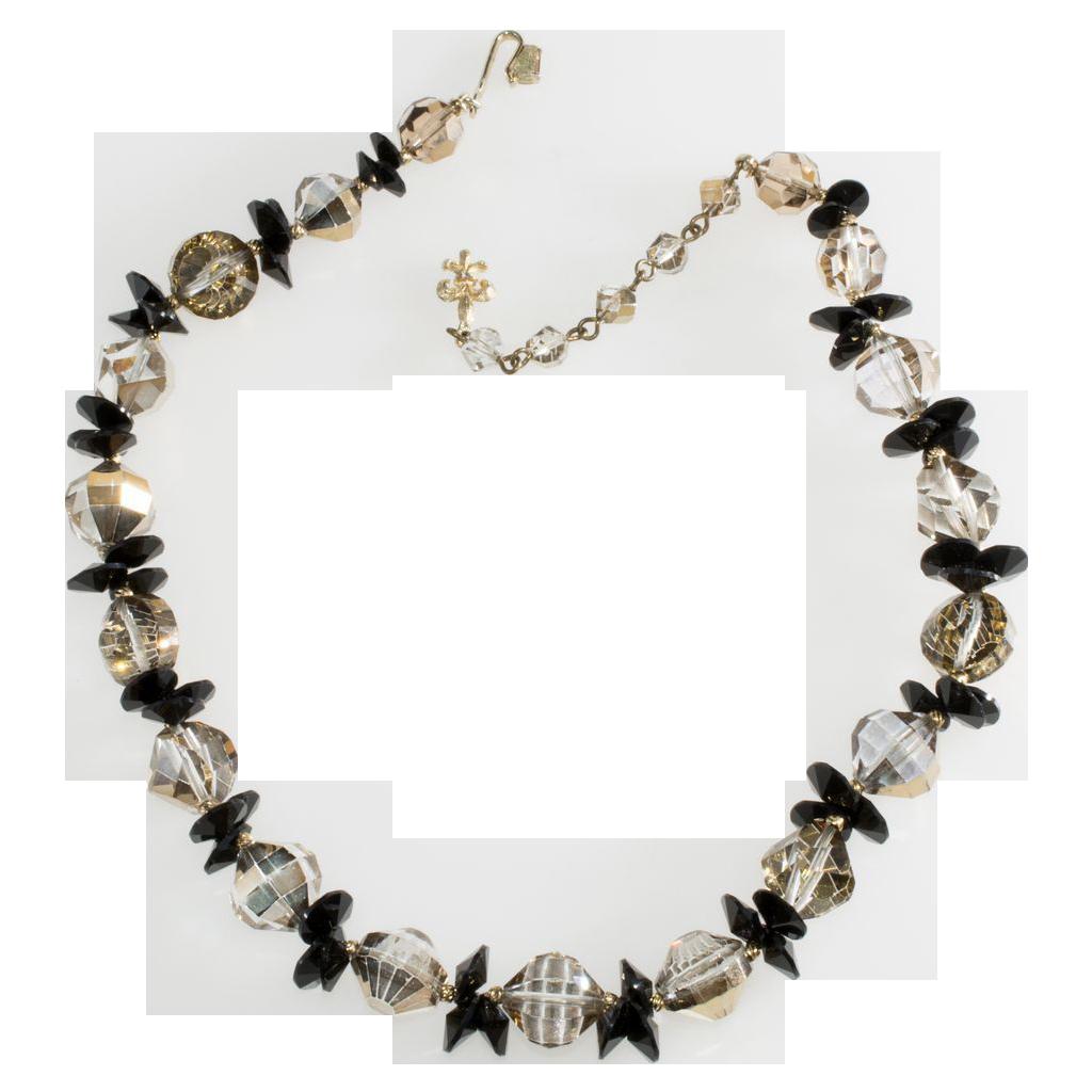 Vendome Black & Bronze Bead Necklace