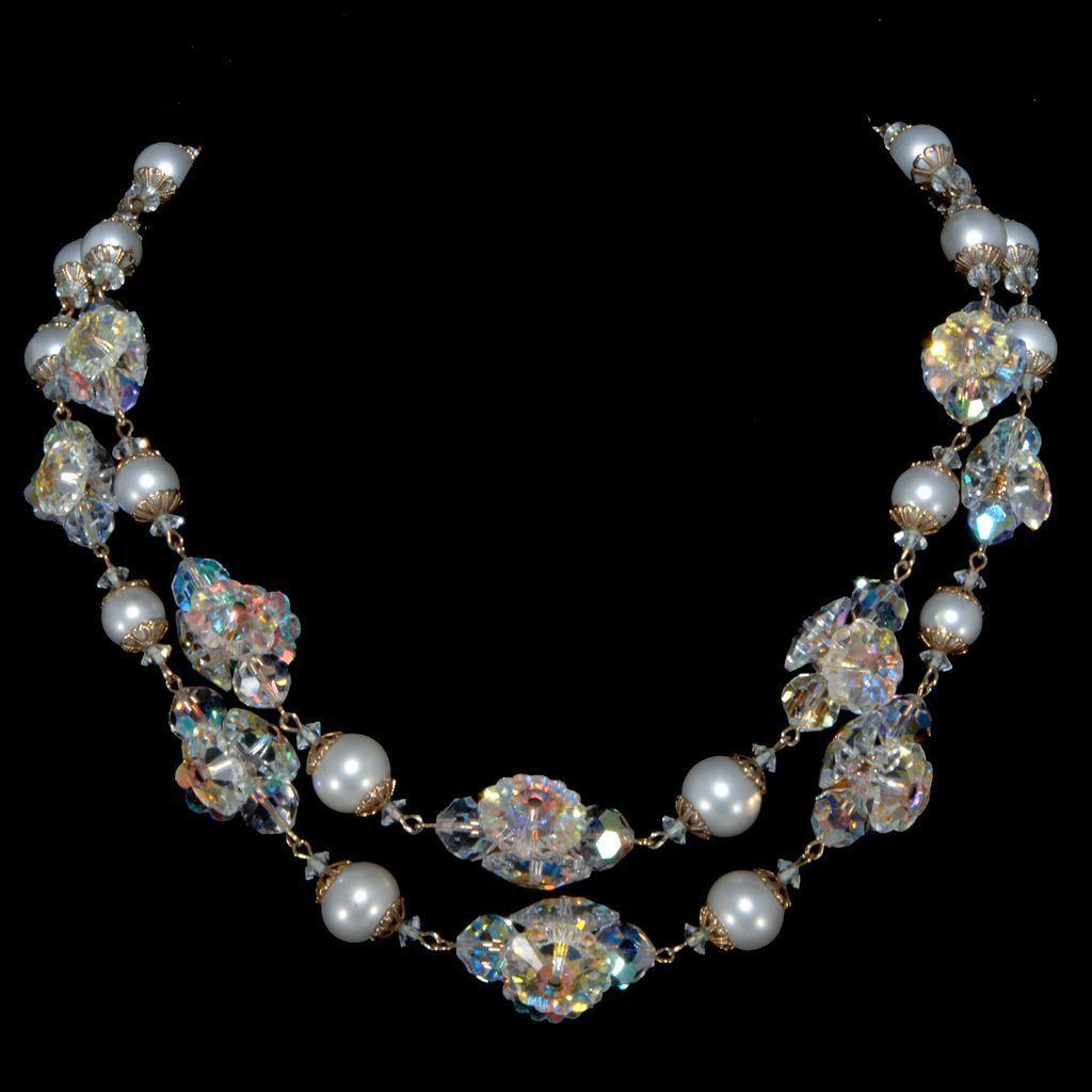 Vendome Faux Pearl & Margarita Stone Necklace