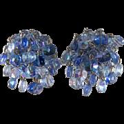 Vogue Blue Dangle Bead Earrings
