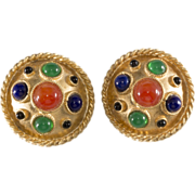 Yosca 1980s Byzantine Revival Earrings