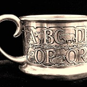 THE BEST Child's Sterling Silver ABC Mug ~ 1880