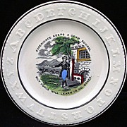 SALE Pearlware ABC Plate ~ Experience + Fools 1840