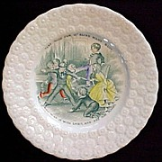Child's Pearlware Plate ~ Blind Man's Bluff 1830