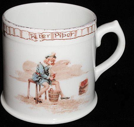 1905 Royal Doulton Nursery Mug ~ Peter Piper Pickle Peppers