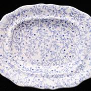 Rare Pearlware Miniature Platter ~ Berry Vines c1835