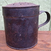 SALE Antique Civil War Era Tin Sifter Shaker 1860