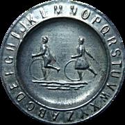 SALE ABC Alphabet Tin Plate ~ HOOPS