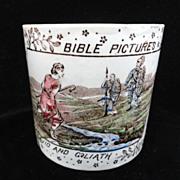 Alphabet ABC Mug ~Bible Stories ~ David and Goliath 1880