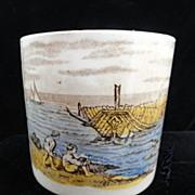 Antique Alphabet ABC Mug ~ Children Seashore ~ 1880