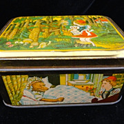 SALE Exc French Fontaine Biscuit Tin ~ Red Riding Hood 1930