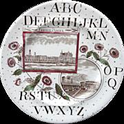 SALE Victorian English ABC Plate ~ Hamburg + Naples ~ 1880
