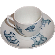 SALE Early Copeland Child Animal Toy Cup & Saucer Zebra Leopard Camel Critters 1905