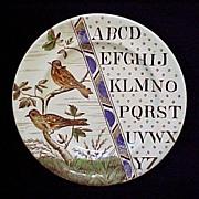 SALE ABC Plate ~ Haffinch & Goldfinch