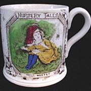 SALE 1880 ABC Mug ~ Little Miss Muffet