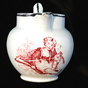 1830 Pearlware Christening Pitcher  ~ FRIENDS