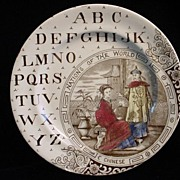 SALE ABC Plate ~ Nations of the World ~ Chinese
